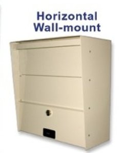 the letter locker horizontal wall mount mail box is made of 14 and 16 gauge steel then finished in a powder coat paint - Lockable Mailbox