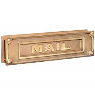 Mailbox slot in wall